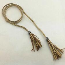 New Women Thin Braided Tassel Waist Belt Strap Rope Woven Waistband 12 Colors