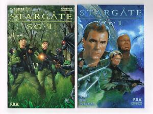 STARGATE SG-1 P.O.W. #1-3 + VARIANT AVATAR COMICS 2004 NM TV SERIES