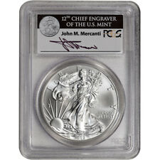 2012-(W) American Silver Eagle - PCGS MS70 Mercanti Signed