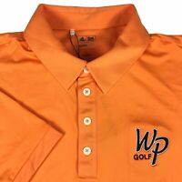 Adidas Climalite WP Golf Orange Short Sleeve Rugby NWT Polo Shirt Mens Large L