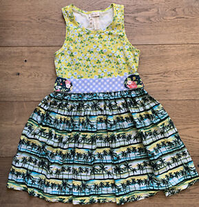 Matilda Jane Hello Lovely Paradise Palm Tree Dress Size 8 Excellent Condition