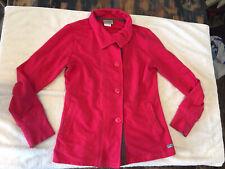 Greys Anatomy By Barco Scrub Jacket Button Collar Watermelon Red Size S