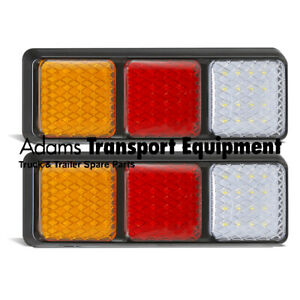 LED Autolamps 2x 282ARWM Stop/Tail/Ind/Rev Lamps 12/24 Volt 4WD/Tray/Caravan