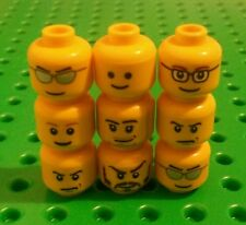 *NEW* Lego Heads Faces for Minifigs Figs Figures Men People Spares - 9 pieces