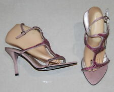 Womens size 9 pink stiletto heel jewelled shoes made by PIED A TERRE