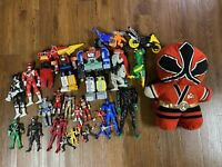 Power Rangers Action Figure Lot Zords And Figures Plus Backpack