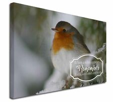 """Little Robin Red Breast 30""""x20"""" Wall Art Canvas, Extra Large Pict, Robin-1-C3020"""