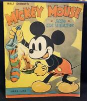 Walt Disney MICKEY MOUSE AND HIS FRIENDS 1936 true 1st ED Disneyana Color RARE