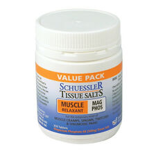 SCHUESSLER Tissue Salts Mag Phos 250 tablets nerve muscle relaxant cramps spasms