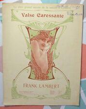 Valse Caressante Frank Lambert - Art Nouveau - Illustration E. Gendrot - 1908