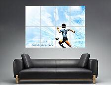 Maradona Best Football PLayer Legend Wall Art Poster Grand format A0 Large Print