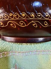 """RARE MANGO DRY VASE WITH INCREDIBLE DETAILED  ART WORK ON IT. """"THAILAND"""""""