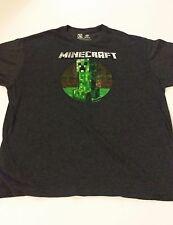 MINECRAFT CREEPER COTTON T-SHIRT  2XL Video Game Gray Mojang**FAST SHIPPING**
