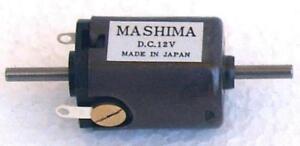 Mashima 1620 12v DC 5 pole motor - 16mm wide x 20mm long - Dual shaft