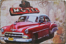 American Motel metal plaque - Retro New York themed tin sign for garage bar shed