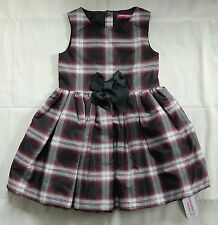 Girls Holiday Dress 4-5 Years Red Black White Tartan Plaid New With Tags Ireland