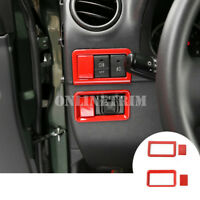 Red Fog Light & Rearview Mirror Switch Cover Trim For Suzuki Jimny 2007-2017
