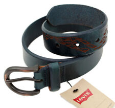 LEVI´S Cinturón de cuero 222464 verde, azul correa talla 75 cm (ANCHO 3 cm)