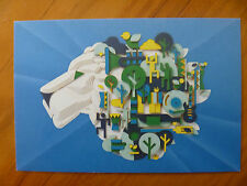 POSTCARD...WOMADELAIDE 2015...WORLD MUSIC FESTIVAL..WOMAD..LION..+ FREE CARD