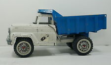 HUBLEY  900 902 Metal Dump Truck Lift White & Blue W/ Door Sticker