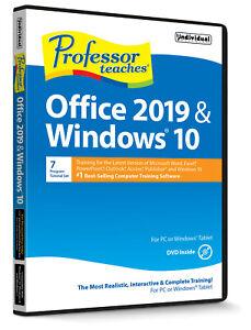 PROFESSOR TEACHES OFFICE 2019 & Win 10 (Latest Version) PC Software---Win 10,8,7