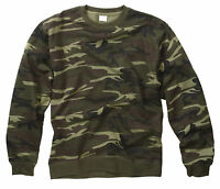 NEW MILITARY WOODLAND CAMOUFLAGE PATTERN  SWEATER SWEAT SHIRT XS-XXL
