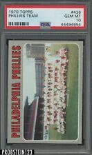 1970 Topps #436 Philadelphia Phillies Team Card PSA 10 GEM MINT