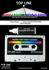 Top Line Audio Cassette Tape Head Cleaner w/ Solution #102, BRAND NEW SEALED