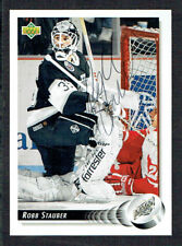 Robb Stauber #495 signed autograph auto 1992-93 Upper Deck Hockey Card