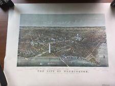 1892 Washington DC Birdseye City Map - 17x23 Reproduction Free Shipping USA