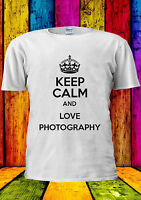 Keep Calm And Love Photography Indie T-shirt Vest Tank Top Men Women Unisex 1719