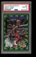 2018 Panini Donruss GREEN LASER #94 Lebron James Lakers PSA 10 /99