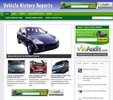 "Established ""Vehicle History"" Niche Affiliate Website Biz For Sale - Turnkey"
