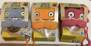 Lot of 3 Plush Ugly Dolls Keychains, Moxy To Go, Wage To Go, Babo To Go, New