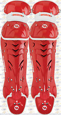 "Worth Liberty Catchers Leg Guards Womens Intermediate Size Red 15"" WLLGI"