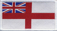 Royal Navy Flag Woven Badge Patch 8cm x 4.5cm UK Manufactured