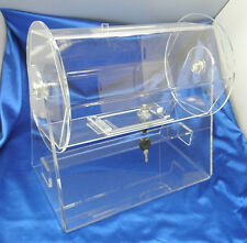 Small Size Clear Acrylic Raffle Drum holds up to 2000 Tickets