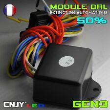 BOITIER MODULE DRL FEUX DE JOUR HOMOLOGATION LED AUTOMATIQUE >GENERATION 3< 50%