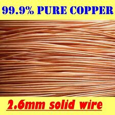 10 Metres Solid Bright Copper Wire 1.15mm 18g SWG or 17g AWG Postage