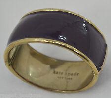 Kate Spade New York Bracelet purple enamel gold plated bangle magnetic RARE VTG