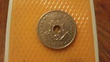 Belgium 1908 - 25 Centimes coin - King Leopold II Royaume de Belgique.