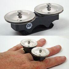 Meinl FJS1S-BK Steel Finger Jingles.Black Finish.Small In Size But Big In Sound.