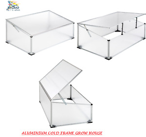 Aluminium Cold Frame Grow House Green House Shelter For Garden Plants 100x60 cms