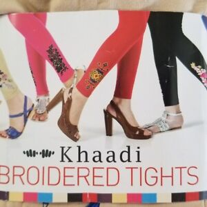 Khaadi Women' Embroidered Stretchable Tights Beige Blue Red White Pink Off White