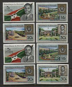 BURUNDI 1967, HISTORY: I ST ANNIVERSARY OF THE REPUBLIC, Sc 218-221 PERF. + IMP.