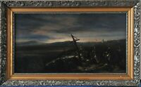 Antique battle scene from the Battle of Wagram, Napoleon's victory