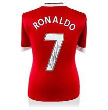 Cristiano Ronaldo Firmado Manchester United Camisa-Número 7 autógrafo Jersey
