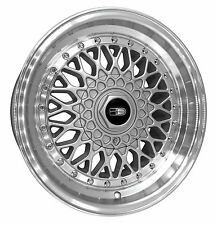 (READ LISTING) 1 - 16x8.0 BBS RS Style Replica Wheels Rims 4x100/5x100 Silver