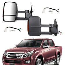 Pair Extendable Towing Mirrors Fits Isuzu D-MAX 2012+ & Holden Colorado RG 2012+