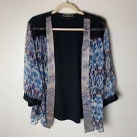 Violet Kay by Spencer Alexis Women's Open Jacket Top Size Large Silk Blend